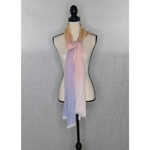 """Christopher Banks Scarf Pastel Ombre 16"""" x 79"""" NWT"""